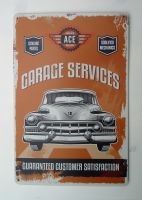 Retro Blechschild - Garage Services / Caddy