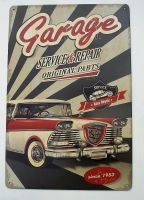 Retro Blechschildl - Garage Service & Repair / Since 1953