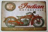 Retro Blechschild - Indian Motorcycle / Model