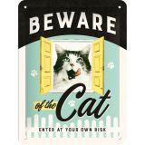 Blechschild klein - Beware of the Cat