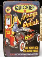 Retro Blechschild - QUICKIES / Pump and Polish