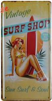 Retro Blechschild - Vintage Surf Shop