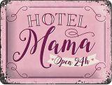 Blechschild klein - Hotel Mama
