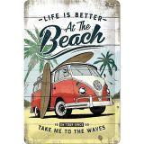 Blechschild mittel - VW Bulli / Beach