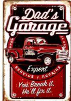 Retro Metal Sign - Dad`s Garage / Chevy Pickup