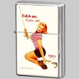 Feuerzeug Pin-up Girl - Catch me...