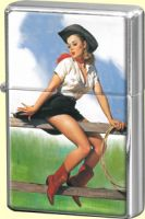 Feuerzeug - Pin Up Cowgirl