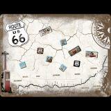 Magnettafel Set. - Route 66