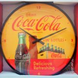 Wanduhr - Coca Cola / In Bottles Yellow