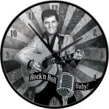 Wanduhr -  Elvis / Rock`n`Roll Baby