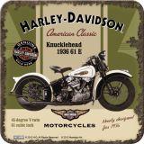 Nostalgie Blechuntersetzer - Harley Davidson Knucklehead