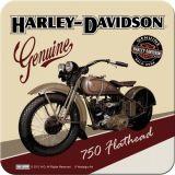 Nostalgie Blechuntersetzer - Harley Davidson Flathead