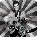 Nostalgie Blechuntersetzer - Elvis / Rock`n Roll Baby