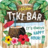 Nostalgie Blechuntersetzer - Tiki Bar