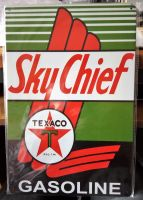 Vintage Steel Plate - Sky Chief / TEXACO GASOLINE