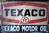 Retro Blechschild  - TEXACO MOTOR OIL / Vintage beige