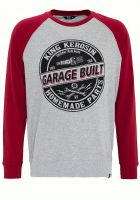 Raglan Sweater von King Kerosin - Garage Built / rot