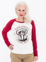 Raglan Sweater von Queen Kerosin - Tijuana Mexico / Cherry