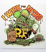 Race Sticker - Rat Fink / I Work for Nitro