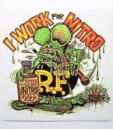 Race Sticker - Rat Fink / I Work for Nitro