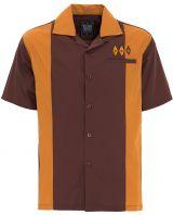 Bowling Hemd von King Kerosin - Gold / braun