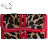 Rock Daddy Wallet - Red with Leopard pattern