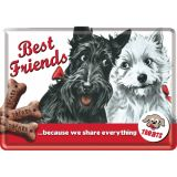 Blechpostkarte -  Best Friend