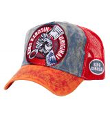 Trucker Cap von King Kerosin - Original Red/blue Vintage