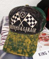 Vintage Trucker Cap - King Kerosin - Kustoms & Garage / schwarz-grün