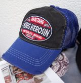 Vintage Trucker Cap - King Kerosin / Motor Oil - black/blue