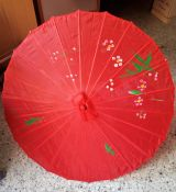 Bambus Sonnenschirm Gross - Rot