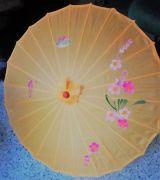 Bambus Sonnenschirm Gross - Orange