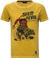 Oilwashed-Shirt von King Kerosin - Speed Devil / senfgelb