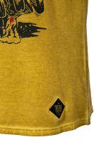 Oilwashed-Shirt von King Kerosin - Speed Devil / senfgelb
