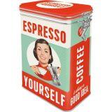Blech Verschluss Vorratsdose - Espresso Yourself