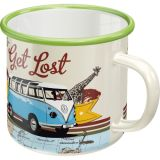 Emaille Tasse / VW Bulli - Let`s Get Lost