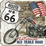 Nostalgie Blechuntersetzer - Route 66 / Desert Old Trails Road