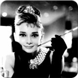 Nostalgie Blechuntersetzer - Audrey / Holly Golightly
