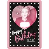 Blechpostkarte - Marilyn / Happy Birthday