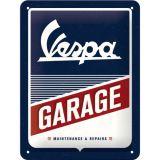 Small Nostalgie Steel Plate - Vespa Garage