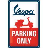 Blechschild mittel - Vespa Parking Only