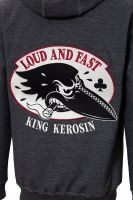 King Kerosin Bestickte Hoodie Jackets - Crow , Loud and Fast / Limited Edition
