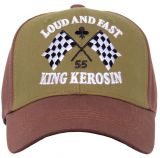 Trucker Cap Flex von King Kerosin - Loud and Fast - Braun/olive