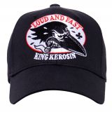 Trucker Cap Flex von King Kerosin - Crow, Loud and Fast / schwarz