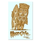 Race Sticker  - Moon / Cafe Tiki