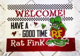 Rat Fink Floor Mat - Welcome