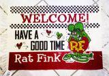 Rat Fink Floor Mat - Welcome