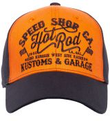 Trucker Cap Flex von King Kerosin - Hot Rod / orange-schwarz