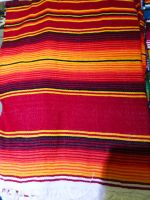 Mexican Sarape  blanket - Red / orange / yellow