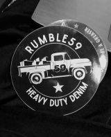 Rumble 59 Sticker - Heavy Duty Denim